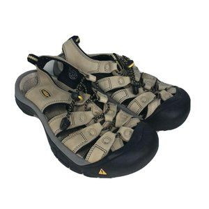 KEEN Sandals Fisherman Leather Tan Bungee Size 7